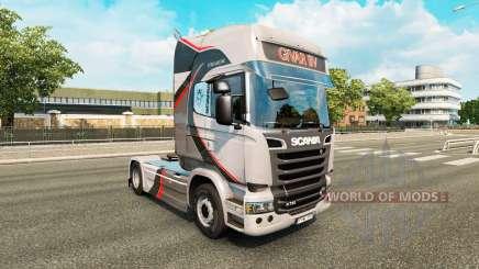 GiVAR BV de la peau pour Scania camion pour Euro Truck Simulator 2