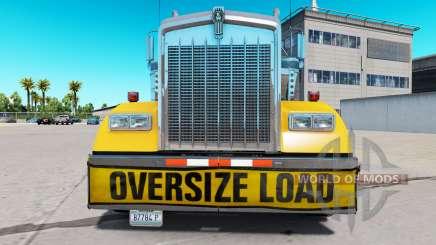 Pare-chocs Oversize Load pour le Kenworth W900 pour American Truck Simulator
