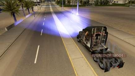 Blau xenon-Scheinwerfer für American Truck Simulator