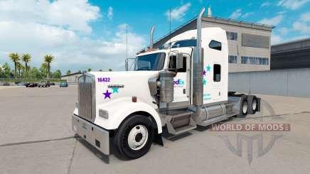 Скин FedEx Custom Critical на Kenworth W900 pour American Truck Simulator