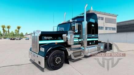 La peau Ervins de Transport sur camion Kenworth W900 pour American Truck Simulator