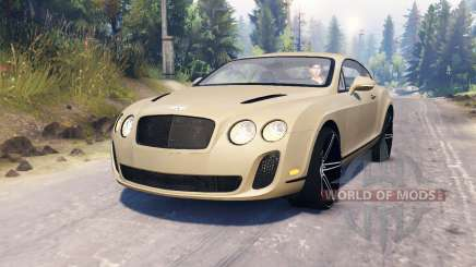 Bentley Continental Supersports pour Spin Tires