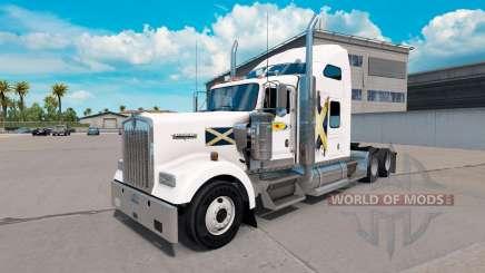 La peau de l'Ecosse sur le camion Kenworth W900 pour American Truck Simulator