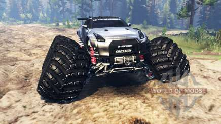 Nissan GT-R (R35) [monster truck] pour Spin Tires