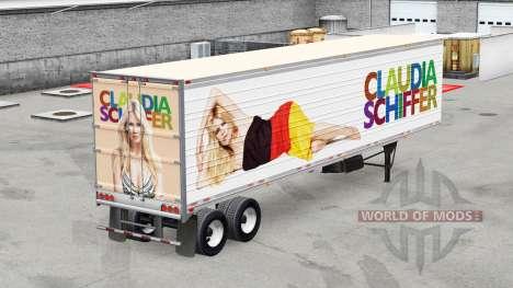 une collection de peaux sur frigorifique semi remorque pour american truck simulator. Black Bedroom Furniture Sets. Home Design Ideas