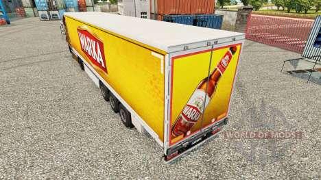 Haut Warka Vorhang semi-trailer für Euro Truck Simulator 2