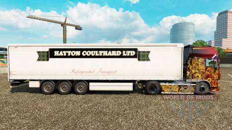 Haut Hayton Coulthard Ltd in curtain semi-traile für Euro Truck Simulator 2