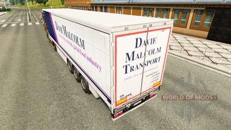 Haut Davie Malcolm auf einen Vorhang semi-traile für Euro Truck Simulator 2