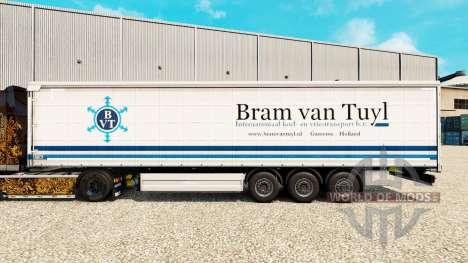 La peau Bram van Tuyl sur un rideau semi-remorqu pour Euro Truck Simulator 2