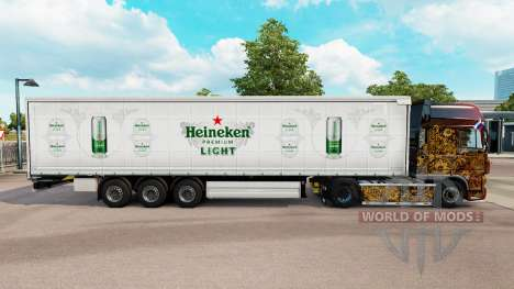 La peau Heineken rideau de Lumière semi-remorque pour Euro Truck Simulator 2