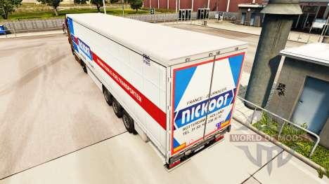 La peau Nickoot sur un rideau semi-remorque pour Euro Truck Simulator 2