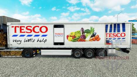 La peau Tesco rideau semi-remorque pour Euro Truck Simulator 2