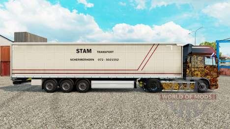 Haut STS Vorhang semi-trailer für Euro Truck Simulator 2