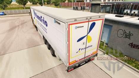 La peau Primafrio rideau semi-remorque pour Euro Truck Simulator 2
