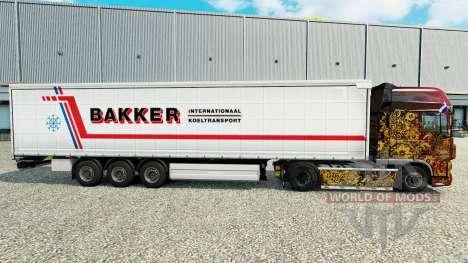 La peau Bakker sur un rideau semi-remorque pour Euro Truck Simulator 2
