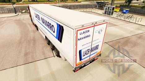 Haut Llacer y Navarro auf einen Vorhang semi-tra für Euro Truck Simulator 2