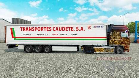 Haut Transportes Caudete S. A. curtain semi-trai für Euro Truck Simulator 2