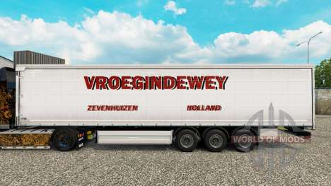 Haut Vroegindewey Vorhang semi-trailer für Euro Truck Simulator 2