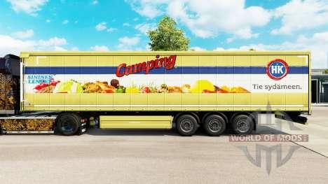 La peau HK Camping sur un rideau semi-remorque pour Euro Truck Simulator 2