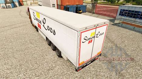 Simon Loos peau rideau semi-remorque pour Euro Truck Simulator 2