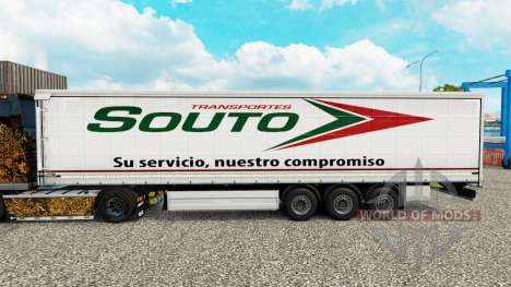 Haut Souto Vorhang semi-trailer für Euro Truck Simulator 2