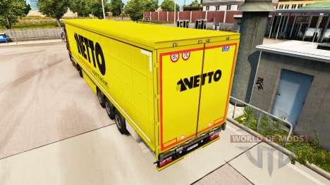 Haut Netto auf einen Vorhang semi-trailer für Euro Truck Simulator 2