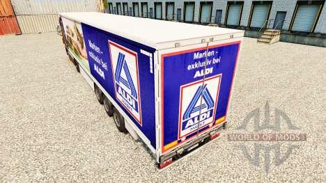 Haut der Aldi-Markt für Vorhangfassaden semi-tra für Euro Truck Simulator 2