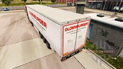 Haut Oldenburger Vorhang semi-trailer für Euro Truck Simulator 2