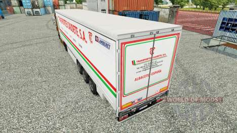 La peau Transportes Caudete S. A. rideau semi-re pour Euro Truck Simulator 2