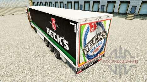 La peau Becks sur un rideau semi-remorque pour Euro Truck Simulator 2
