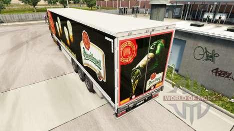 La peau Pilsner Urquell rideau semi-remorque pour Euro Truck Simulator 2