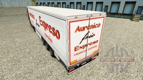 Haut Aurenico frio Expreso auf einen Vorhang sem für Euro Truck Simulator 2