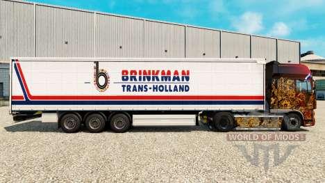Haut Brinkman auf einen Vorhang semi-trailer für Euro Truck Simulator 2