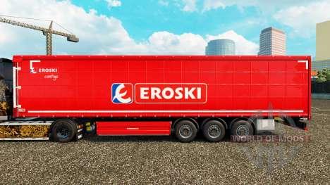 Haut Eroski auf einen Vorhang semi-trailer für Euro Truck Simulator 2