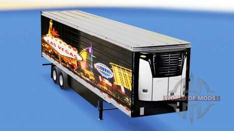 La peau de Las Vegas pour frigorifique semi-remo pour American Truck Simulator