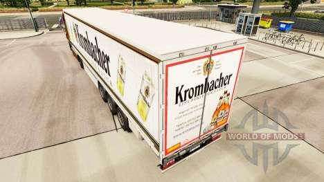 Haut Krombacher auf einen Vorhang semi-trailer für Euro Truck Simulator 2