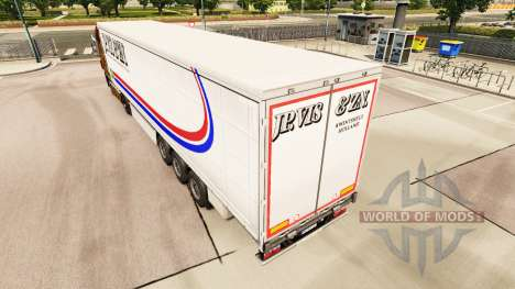 La Peau Jp. Vis & Zn. sur un rideau semi-remorqu pour Euro Truck Simulator 2