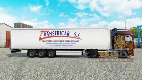 La peau Transfricar S. L. rideau semi-remorque pour Euro Truck Simulator 2