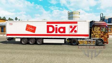 Haut Dia auf einen Vorhang semi-trailer für Euro Truck Simulator 2