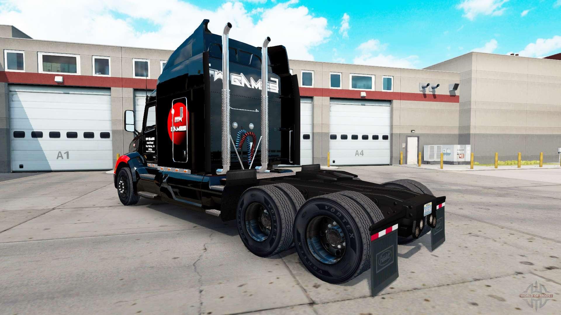 itw jeux de la peau pour le camion peterbilt 579 pour american truck simulator. Black Bedroom Furniture Sets. Home Design Ideas