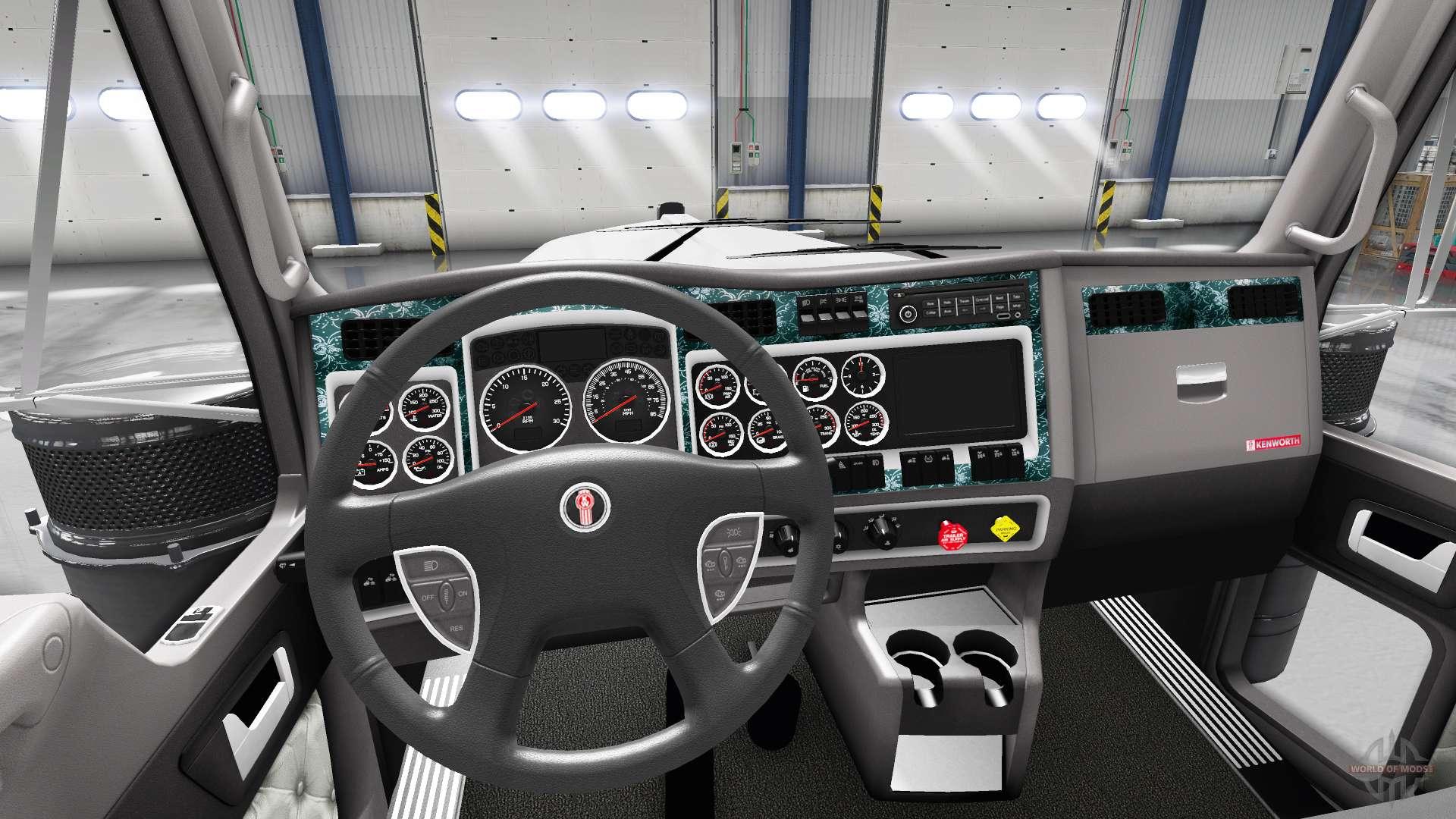 bois l 39 int rieur pour kenworth w900 pour american truck simulator. Black Bedroom Furniture Sets. Home Design Ideas