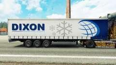 Haut Dixon auf einem Vorhang semi-trailer