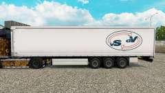 Haut Der Strahlen De Vries Vorhang semi-trailer