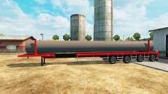 Semi-trailer mit einer Belastung von Wasserleitu