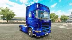 Fantastische Blue skin für Scania-LKW