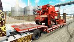Low sweep mit landwirtschaftlichen Maschinen