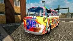 Volkswagen Transporter T2 hippy pour le trafic