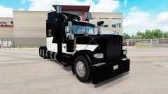 Die Haut Weiß Z-Streifen auf der truck-Peterbilt