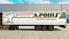 Haut A. Pouls auf einen Vorhang semi-trailer