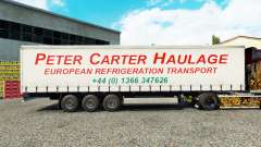 Haut Peter Carter Spedition auf Vorhang semi-tra